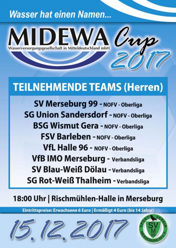 FB) Zwölfte Auflage MIDEWA Cup Merseburg – Union natürlich dabei